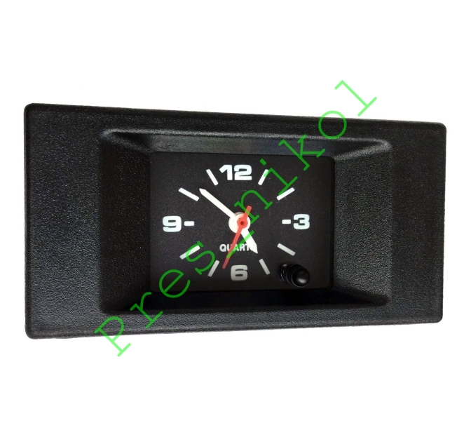 Luch Quartz Car Dashboard Clock Square. Retro, Restoration, old/new school. 12V